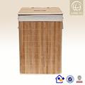 artesanato de bambu de bambu comercial dobrável cesto de roupa suja cesto