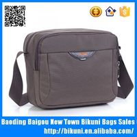 Custom men different nylon small meeting document messenger bag with shoulder strap