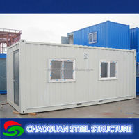 prefab house movable warehouse 20ft container portable office for sale