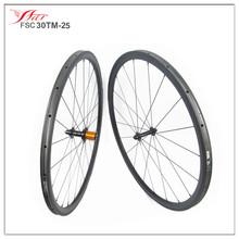 OEM wholesale cheapest 30mm*25mm, 20/24H, tubular, 700c road bike carbon wheels china