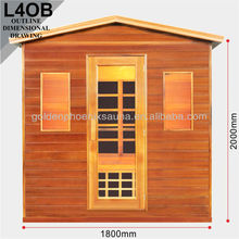 Canada Hemlock sauna outdoor L5O outdoor sauna room