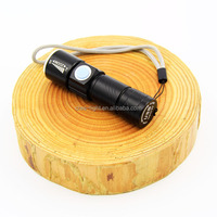 C92 Torch 3w LED R2 Build in Battery and Rechargeable USB Charger LED mini zoom dimmer led Flashlight