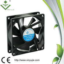 Xinyujie 12v 24v 8025 dc cooling fan high performance domestic ventilation fan