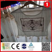 Wholesale popular Water washing o-neck cotton t-shirt