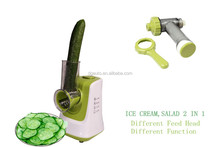Fruit ice cream frozen dessert maker with salad and smoothie maker for home