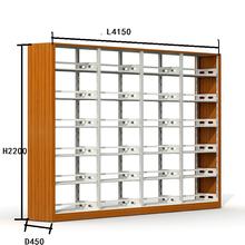 School Library Modern Furniture Design, Folding Metal Book Shelf with Melamine Decorated