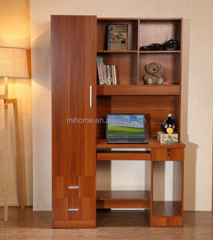 Ct j002 new design computer table with bookshelf buy - Computer and study table designs for home ...
