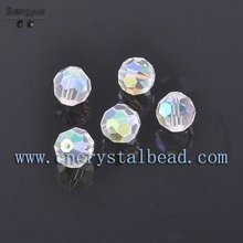 Faceted Round Decorative clear Crystal Glass Bead Jewelry