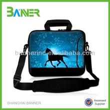 Handle Shoulder strap notebook sleeve Neoprene laptop case with zipper