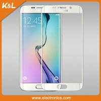 0.3mm 3D Curved Aluminium Alloy Full Cover Tempered Glass for Samsung S6 screen protector