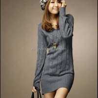 China custom sweater for women/fashion knitting lady pullover/sweater women
