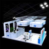 3x3 exhibition stand aluminum booth exhibition design and construction exhibit display trade show booth