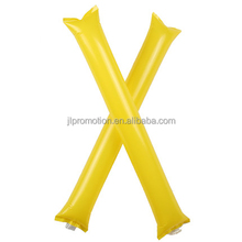 Promotional PE material inflatable hockey stick size 10*60cm inflatable hockey stick with logo printed CF factory