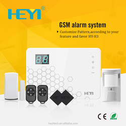 Wireless GSM SMS 2/3/4G Home Security Touch Keypad GSM Alarm.System