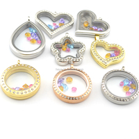Wholesale 25mm, 30mm lover floating memory glass heart shaped locket pendant
