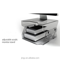adjustable clear acrylic computer monitor stand