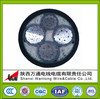 Aluminum Core STA 3+1 core armoured electric power cable YJLV22