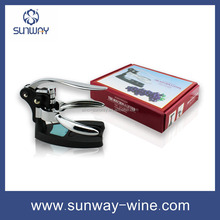 wine set S/2,rabbit corkscrew wine opener with stand and foil cutter