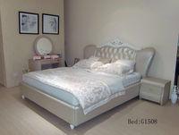 crown design modern leather bed 1508