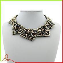 2014 più economico di alta qualità in lega di zinco placcato di rame moda gioielli di corallo nero collana