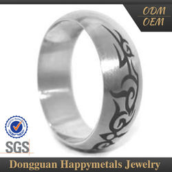Affordable Price Custom Lasered Silver Ring Male