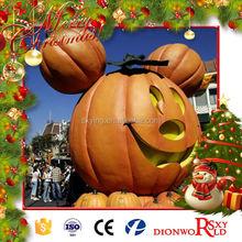 Theme Park Giant Life-size Beautiful Fiberglass Pumpkin Cartoon Model