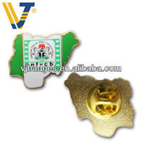 irregular shaped metal souvenir lapel pins with butterfly clip
