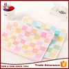 Factory supply cheap plain cloth small check hand towel handkerchief