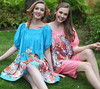Fashion Two color Leisure Summer Women Clothing with flower printed Ladies Dress