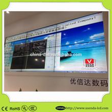 Usenda panel standing indoor lcd video wall with 4.9mm bezel