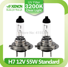 XENCN H7 PX26d 12V 55W 3200K Clear White Halogen Headlights High Low Beam Car Lights Bulbs Autolamps for opel insignia golf 6