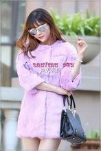 Fur Popular and Fashion Quality Fur Coats,light purple rabbit fur coat.