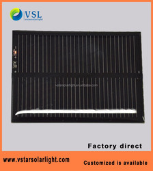 customized design monocrystalline small solar panels 6V 2W with CE RoHS FCC