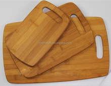 Bamboo Cutting boards - 3 Pieces set, round edge with hanging hole