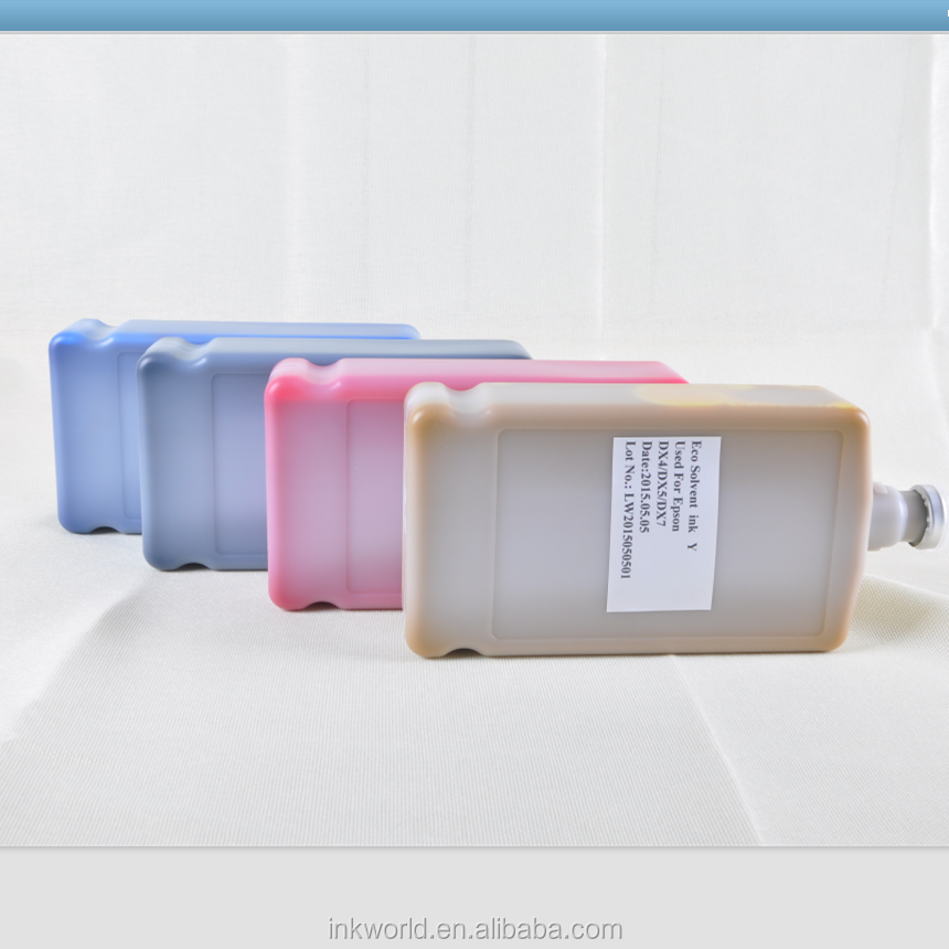 eco solvent ink for Roland LEC-300 compatible with DX4 head,tinta eco solvente Roland LEC-300