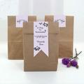 mini dom saco de papel com etiqueta selado