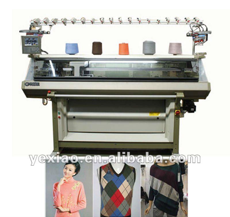 Fully Fashioned Knitting Machines : Fully fashion computerized sweater flat knitting machine