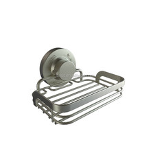 18/8 stainless steel metal chrome suction wall mounted bathroom soap dish holder soap basket bath accessories