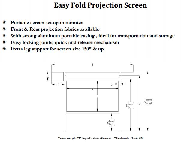 180 16 9 toile tissu portable rapide fold ext rieurs projecteur cran de projection ecran de. Black Bedroom Furniture Sets. Home Design Ideas