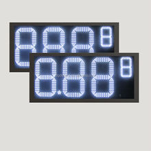 led digital clock red display/ 12 inch gas price led signs/ diesel price sign