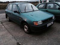 Used RHD Toyota Starlet for export from Ireland.
