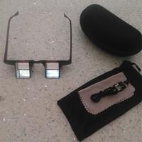 Adjustable and reversible optical prisms glasses lazy reading glasses bed prism glasses
