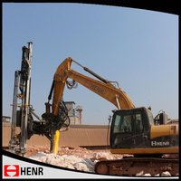 Robust hydraulic drilling equipment excavator mounted rock drilling with atlas drifter