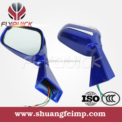 FLYQUICK mirrors motorcycle front turn signals,motorcycle motorbike racing bike side mirror with light for mirror for CF MOTO