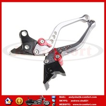 KCM390 Adjustable CNC Motorcycle Accessories Brake Clutch Lever for ZX1100/ZX-11 ZX7R/ZX7RR 14.5CM Aluminum Gray