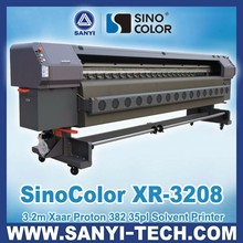 3.2m Solvent Printer SinoColor XR-3208, with Xaar Proton 382 Printheads