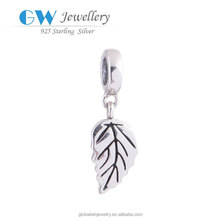 Silver Pendnat Jewelry Tree Leaf Pendant Charms Wholesale 925 Sterling Silver Pendants S038