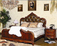 2015 latest solid teak double wood bed designs