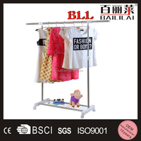 2015 new style hot sale stand clothes hanger single rack
