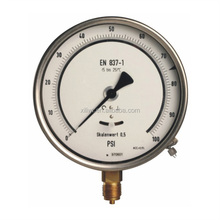 2015 shanghai General Stainless Stee 304 High quality oil filled bottom mounting Pressure Gauge